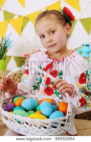 Ukrainian Holding A Basket
