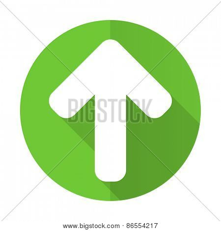 up arrow green flat icon arrow sign