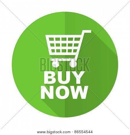 buy now green flat icon
