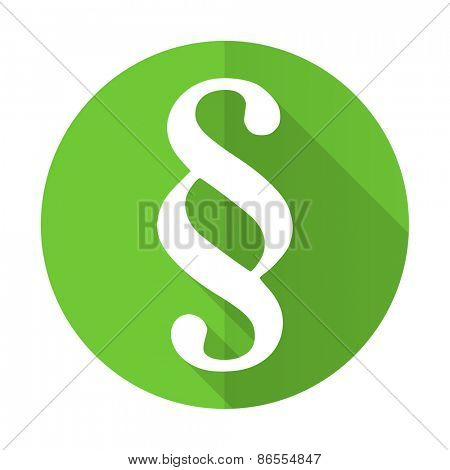 paragraph green flat icon law sign