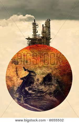 Concept Photo Of Pollution On Earth