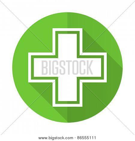 pharmacy green flat icon