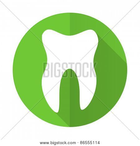 tooth green flat icon