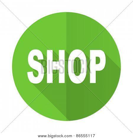shop green flat icon