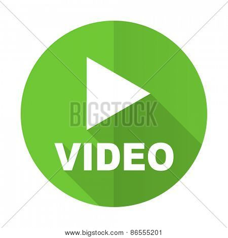 video green flat icon