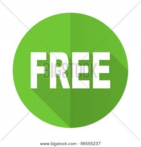 free green flat icon