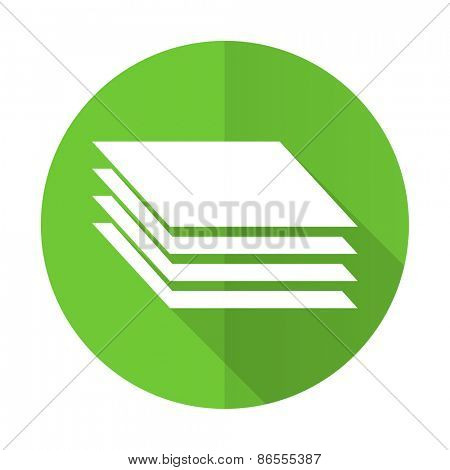 layers green flat icon