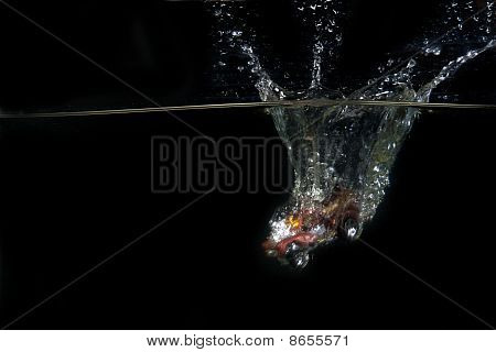 Toy Car Dropped Into Water