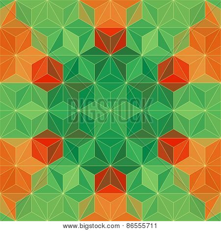 Colorful Triangle Pattern. Vector Background
