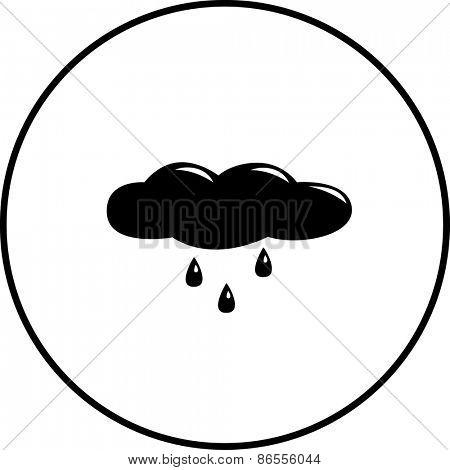 raining cloud symbol