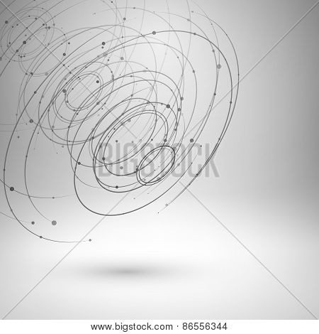 Wireframe mesh abstract background.