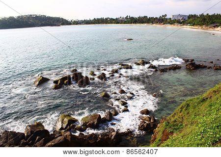Rocky shore, Mirissa beach