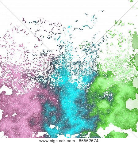 Saturated Mottled Background In Violet, Green And Blue Spectrum