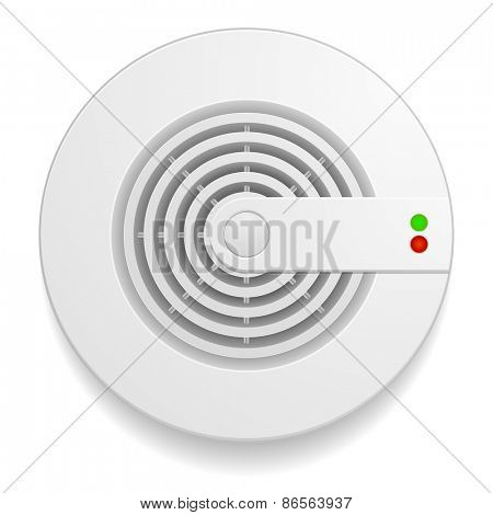detailed illustration of a smoke detector, eps10 vector