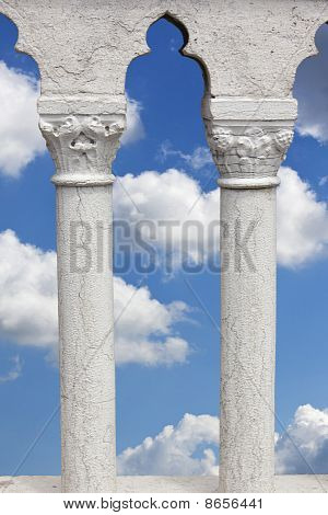 beautiful Sky Seen Through Marble Columns