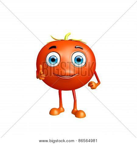 Tomato Character With Pointing