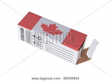 Concept Of Export - Product Of Canada