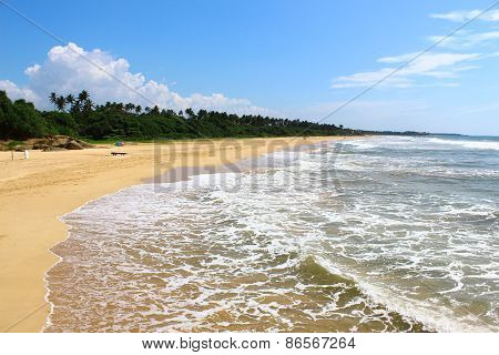 Endless beach of Bentota, Sri Lanka