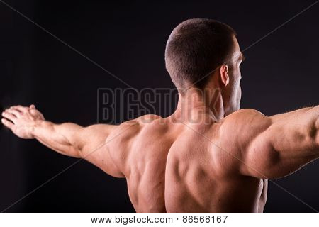 Muscular man bodybuilder