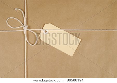 Brown Parcel With String