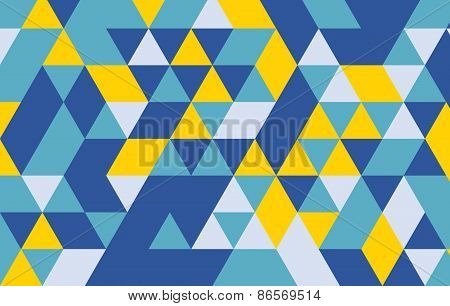 Triangle Pattern Vector Background.