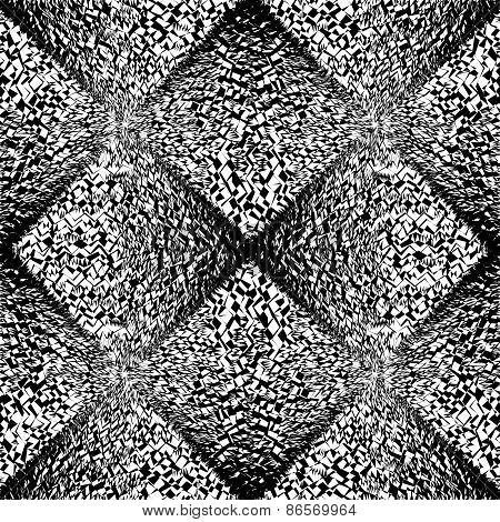 Design Seamless Uncolored Geometric Pattern