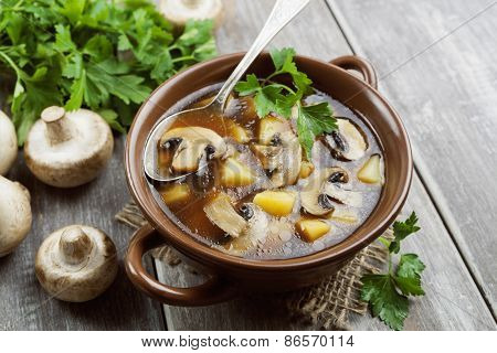 Mushroom Soup With Champignons