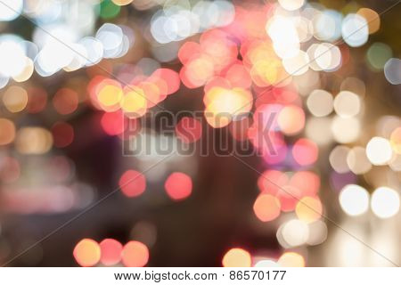 Bokeh Night Light Soft Background.