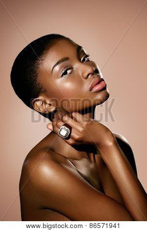 Model Wearing Ring