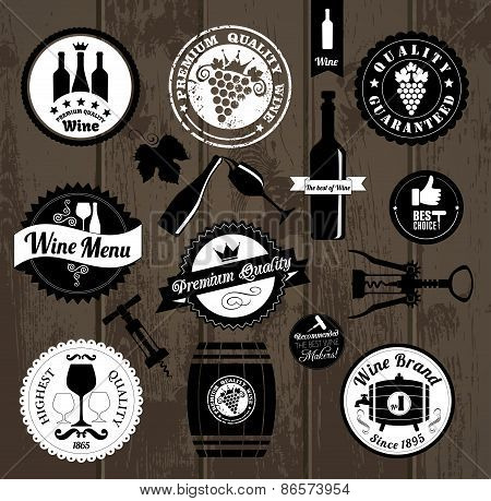Vector Stock Illustration of medal wine