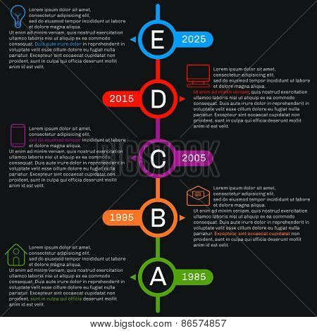 Timeline Template Infographics. Vertical Progress.
