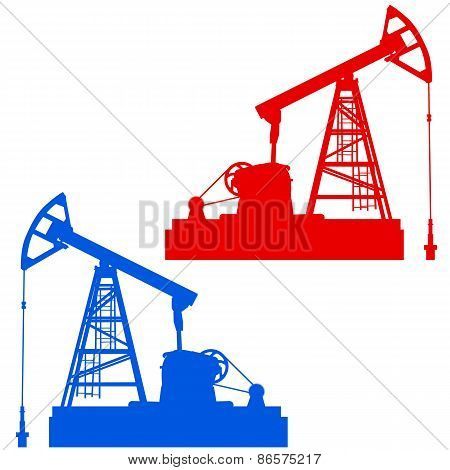 Oil Pumpjack. Oil Industry Equipment.