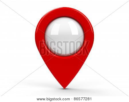 Red Map Pointer Blank