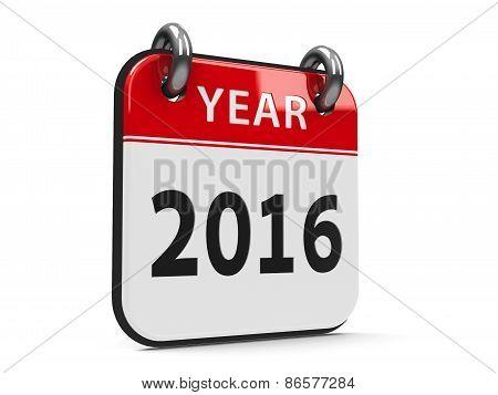 Icon Calendar 2016 Year