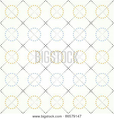 squares and circles on a light background