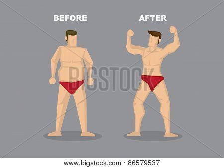 Effective Weight Loss Vector Illustration