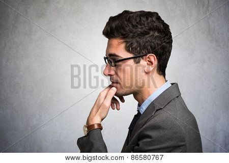 People trying to concentrate himself