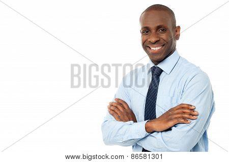 Smiling Executive Isolated On White