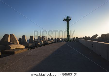 Harbor Entrance Pier Beacon