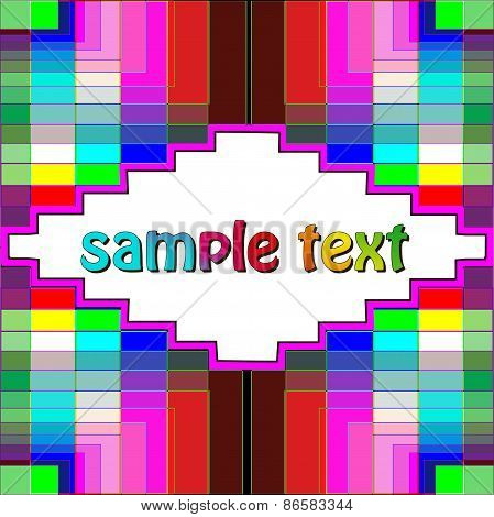 Background With Colorful Geometric Pattern Text
