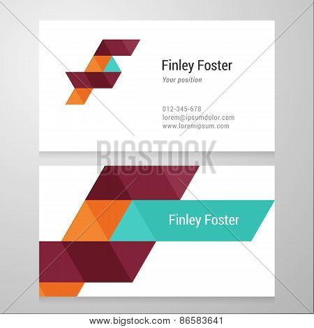 Modern Letter F Business Card Template