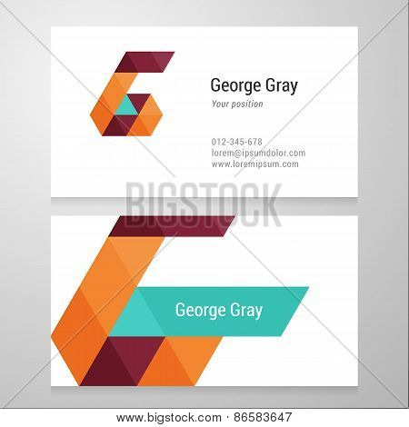 Modern Letter G Business Card Template
