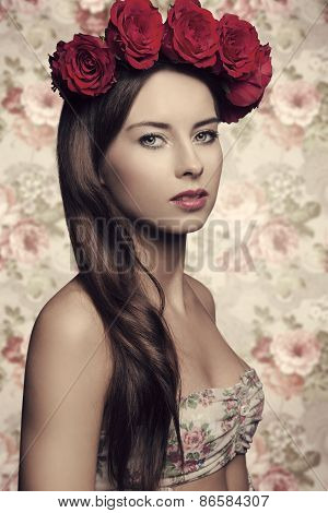 Woman With Floral Head