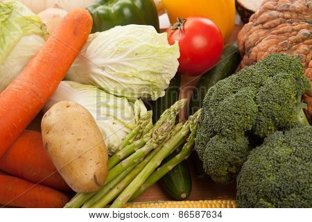 Colorful Fresh Mixed Vegetables