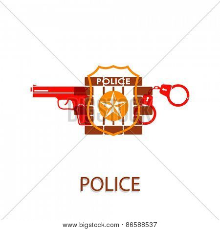Vector illustration on the theme of Police