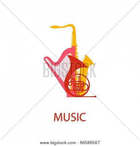 Vector illustration on the theme of music