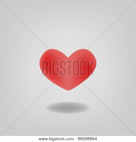 Isolated Heart Shape Design