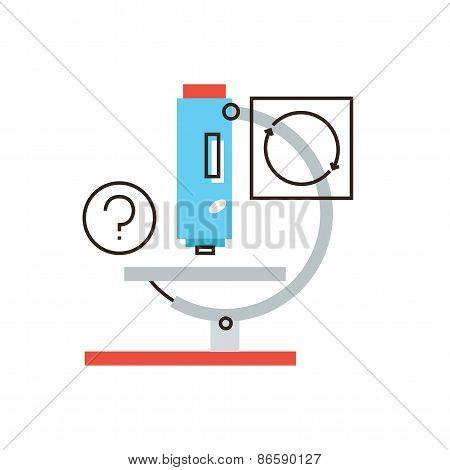 Laboratory Microscope Flat Line Icon Concept