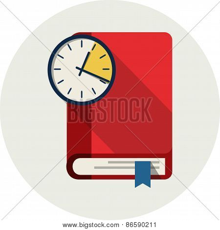 Clock and Book. Time to Learn