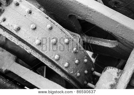 Old Industrial Mechanism Details Assembly